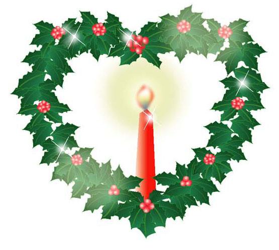 クリスマスカードに使える素材 ... : メッセージカード ハート : カード